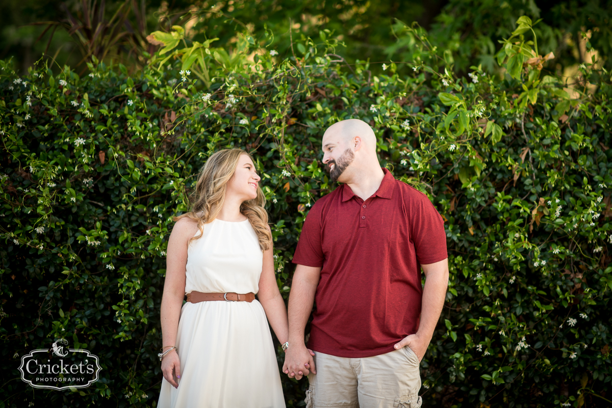 winter garden engagement session