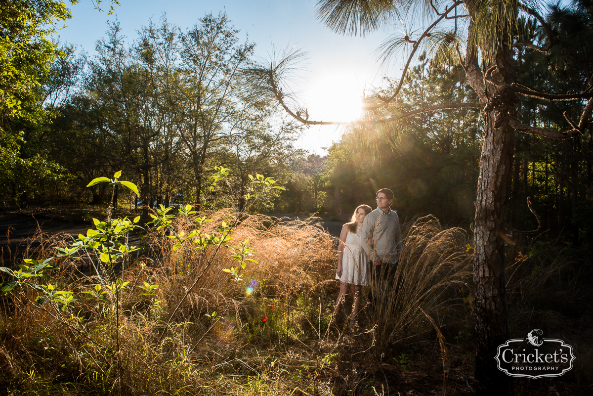 winter garden engagement photography