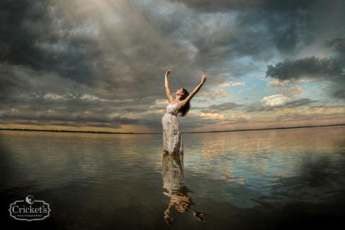 orlando lake maternity photography