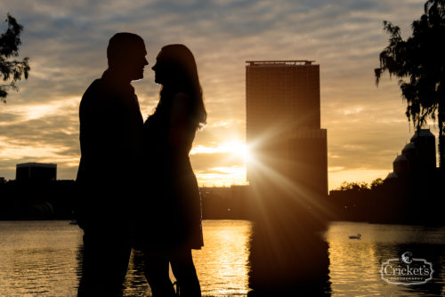 downtown orlando lake eola engagement photography