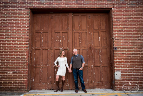 downtown winter garden engagement photography