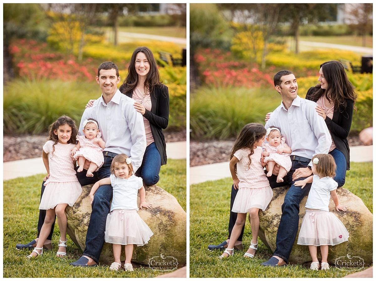 winter garden family newborn photography
